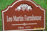 carvewright-address-signs-Leo matrin sign 001