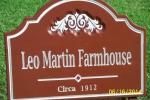 carvewright-address-signs-Leo matrin sign 001