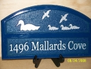 carvewright custom carvings by perry residential sign ducks